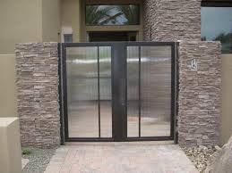 reeded gate glass
