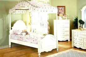 Twin Wood Canopy Bed White Wood Canopy Bed Full Size White Canopy ...