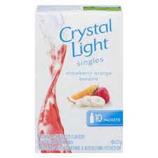 Crystal Light Drink Mix Strawberry Orange Banana Crystal Light Singles Strawberry Orange Banana