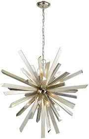 dimond 1141 073 cataclysm contemporary silver leaf lighting chandelier loading zoom