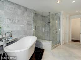 Contemporary Master Bathroom With Master Bathroom  Rain Shower - Crown molding for bathroom