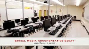 argumentative essay social media social media example essay