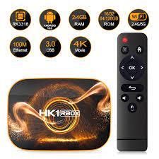 Smart TV BOX Android 10.0 HK1 Rbox 2/4GB RAM 16/32/64GB ROM Rockchip Rk3318  2.4/5G Wifi BT4.0 4K Media player Set Top Box Set-top Boxes