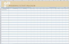 Spreadsheet Examples Sample Wedding Guest List Example Other ...