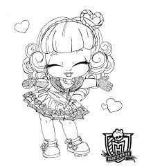 Monster High Baby Coloring Pages To Print Dolls 13 Wishes Wisp ...