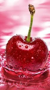 cherry, red, water, spray