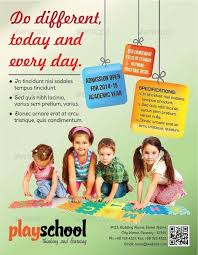 Play School Education Flyer By Graphitemedia