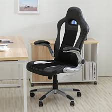 leather office. Bellezza Executive Racing Style Bucket Seat PU Leather Office Chair Computer 360° Swivel, Black