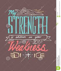 my strength is shown in your weakness stock vector image  my strength is shown in your weakness