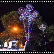 String Light Balloon Luminous Led Balloon Led Air Balloon String Lights Round Bubble Helium Balloons Kids Toy Wedding Party Christmas Deco