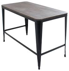 pia home office desk with espresso wood top and metal frame desks and