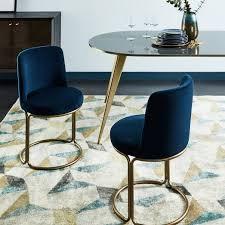 cora velvet dining chair