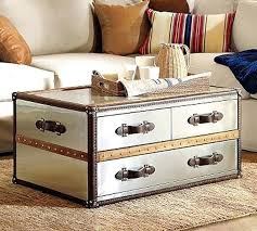 rustic metal trunk coffee table metal trunk coffee tabl on pretty metal trunk coffee table back