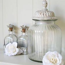 Decorative Glass Storage Jars Glass French Country Kitchen Canisters Jars eBay 52