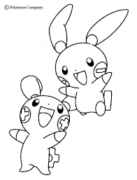 Small Picture Plusle and minun coloring pages Hellokidscom