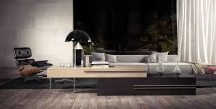 Wenge Living Room Furniture Modloft Worth 4 Piece Platform Bedroom Set In Wenge And White