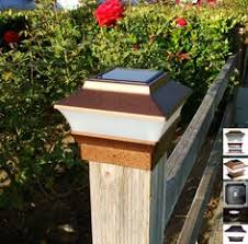 4x4 Copper Solar Post Cap Lights Set Of 2 | Upgraded 2 SMD White LED Fence