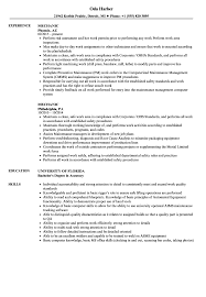 Cmm Operator Sample Resume Mechanic Resume Samples Velvet Jobs 12