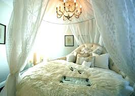 Curtain Around Bed Sheer Curtains For Canopy Large Size Of White ...