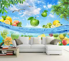 Large Fruits Murals Summer Papel 3d ...