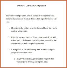 letter of complaint sample resume letter of complaint sample formal letter of complaint