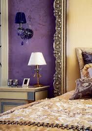 modern interior design and decor in purple color shades