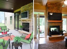 best 25 indoor outdoor fireplaces ideas on farmhouse two with sided fireplace idea 10