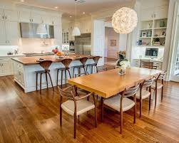office in kitchen. large traditional medium tone wood floor open concept kitchen idea in los angeles with recessed office r