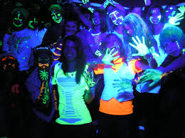 Clothes Under Black Light Spirals And Circles Glow In The Dark Body And Face Stickers