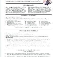Standard Resume Format Beauteous Designer Resume Format Standard Resume Format For Interior Designer