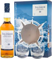 talisker 10 year old gift pack 2 gles