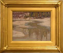 new frame pletely custom made frame refinished using new stock gilded in 23k gold moulding gilded in metal leaf