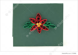flowers poinsettia unique hand crafted poinsettia gift or invitation using paper quilling technique