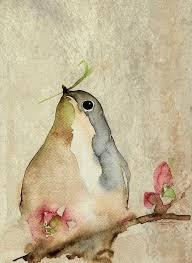 mona mina simple watercolorwatercolor arercolour birdsbird