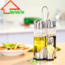 cooking oil dispenser stainless steel and glass oil dispenser high capacity bottle glass for sauce cooking tools easy to cooking oil dispenser