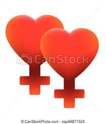 hot ian love symbol two hearts csp48871524