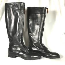 chanel knee high boots. chanel leather boots. 356$. kneehigh chanel knee high boots n