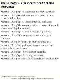 Counselor Resume Sample Mental Health Counselor Resume Templates