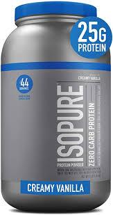 Isopure <b>Zero Carb Protein Powder</b>, 100% Whey Protein Isolate ...