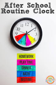 After School Routine Clock For Parents B C Desperatetimes