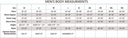 Time And Tru Clothing Size Chart Size Charts
