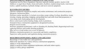 Construction Equipment Operator Sample Resume | Nfcnbarroom.com