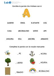 Parole, bisillabe, trisillabe, lettere ponte. Lettere E Parole Labautismo