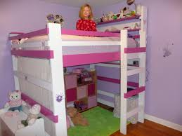 Purple Childrens Bedrooms Purple Wall Color With With Slim Loft Children Bed And Green