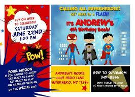 Personalized Superhero Birthday Invitations Custom Personalized Superhero Superfriends Birthday Party Invitation