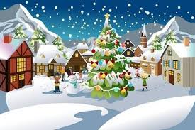 Christmas Scenes Free Downloads Cartoon Christmas Scenes Clipart Clipart Images Gallery For