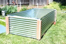 corrugated metal garden beds raised bed corrugated metal steel raised garden beds beds home