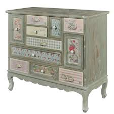 shabby chic chest of drawers. Patchwork Shabby Chic Chest Of Drawers Throughout
