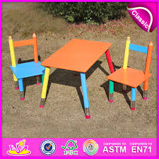 china 2016 mdf kids study desk chair in pencil design portable folding table chair set hot wooden study table and chair wo8g106 china desk and