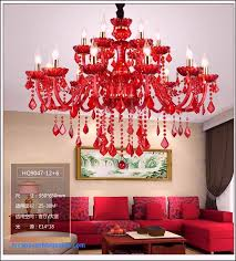 clear glass crystal chandelier blue red color chandelier and pendent